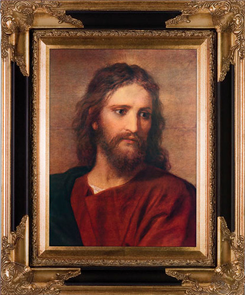 Christ at 33 by Hoffman Canvas - Black and Gold Museum Framed Canvas