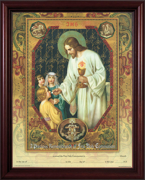 Christ the Living Bread - Cherry Framed Certificate