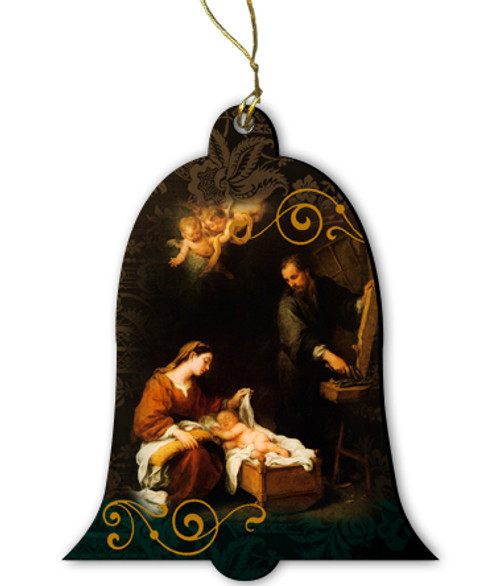 Holy Family by Murillo Wood Ornament