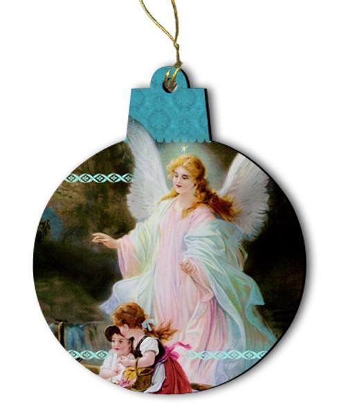 Guardian Angel Wood Ornament