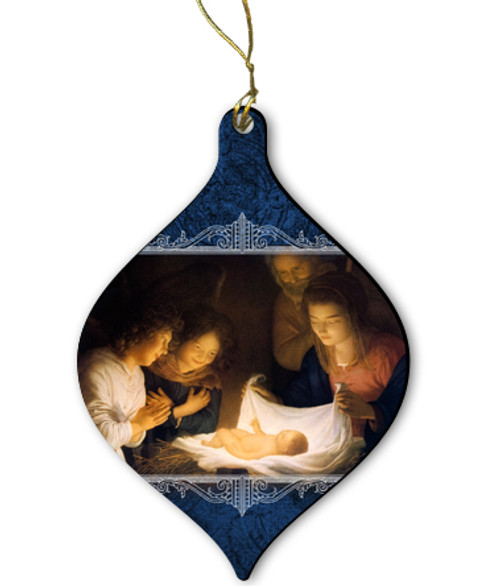 Nativity Wood Ornament