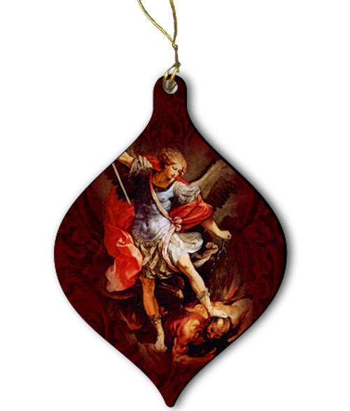 St. Michael Wood Ornament