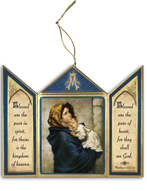 Madonna of the Streets Triptych Wood Ornament