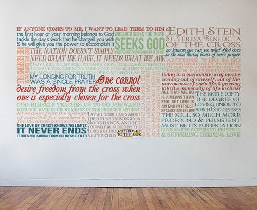 St. Edith Stein Teresa Benedicta Quote Wall Decal