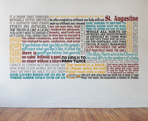 Saint Augustine Quote Wall Decal