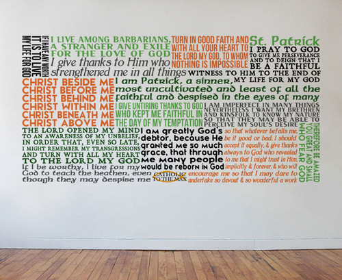 Saint Patrick Quote Wall Decal