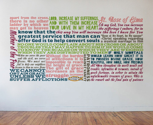 Saint Rose of Lima Quote Wall Decal
