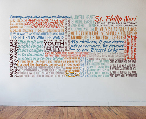 Saint Philip Neri Quote Wall Decal