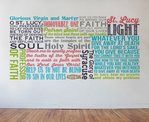 Saint Lucy Quote Wall Decal
