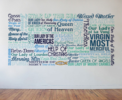Titles of Mary Wall Decal