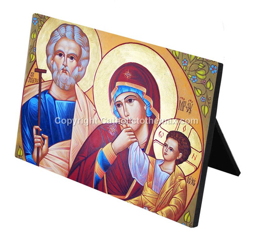 The Holy Family Icon Desk Plaque