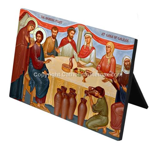"""The Wedding Feast of Cana"" Desk Plaque"
