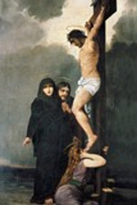 Crucifixion Holy Card With Prayer