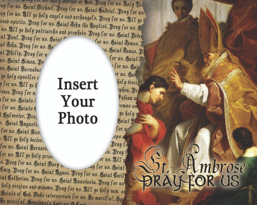 St. Ambrose Photo Frame
