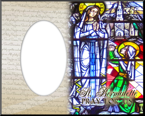 St. Bernadette Photo Frame