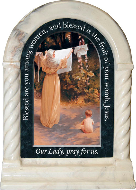 Polish Madonna Prayer Desk Shrine