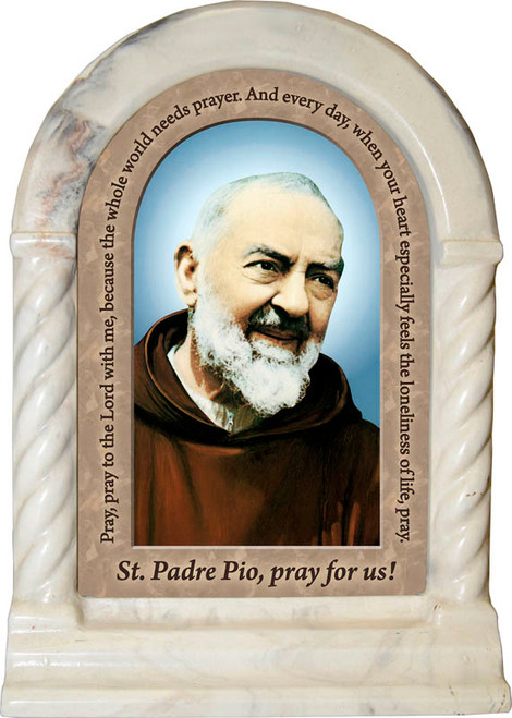 St. Padre Pio Prayer Desk Shrine