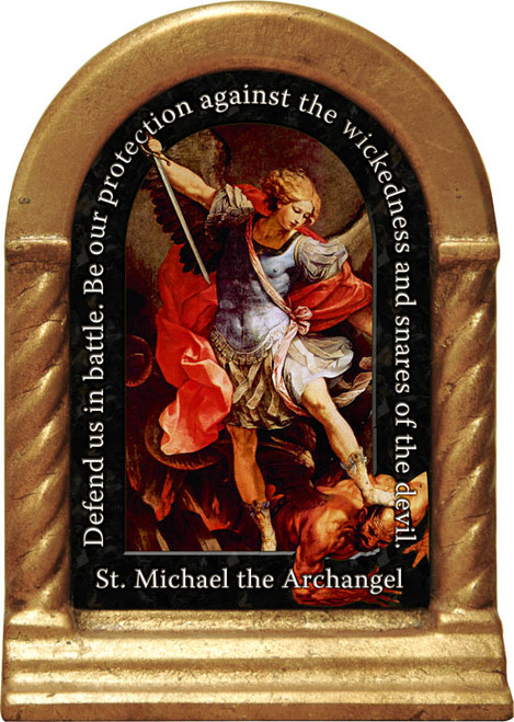 St. Michael the Archangel Prayer Desk Shrine