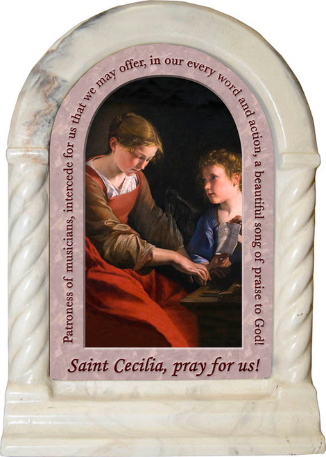 St. Cecilia Prayer Desk Shrine