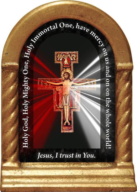 San Damiano Divine Mercy Prayer Desk Shrine
