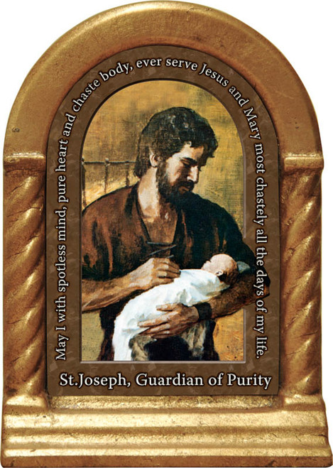 St. Joseph, Guardian of Purity Prayer Desk Shrine
