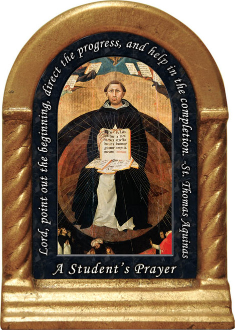 St. Thomas Aquinas Prayer Desk Shrine