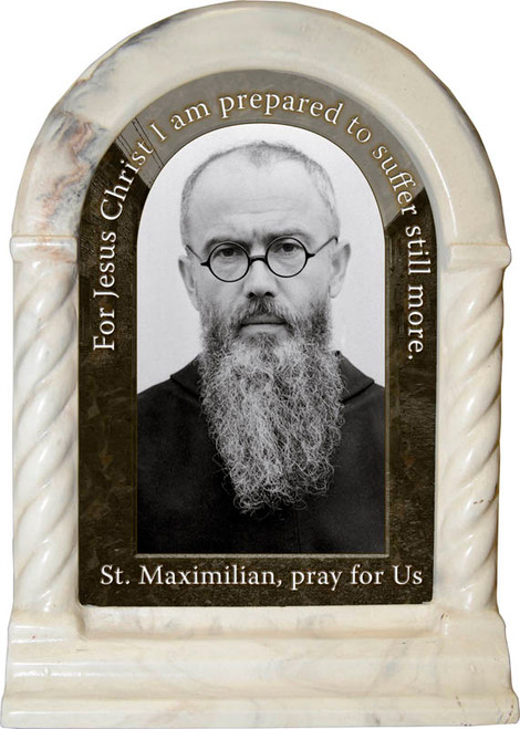 St. Maximilian Kolbe Prayer Desk Shrine