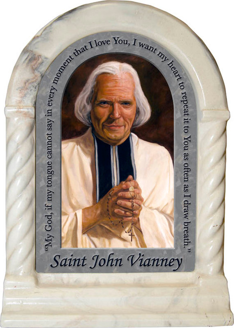 St. John Vianney Prayer Desk Shrine