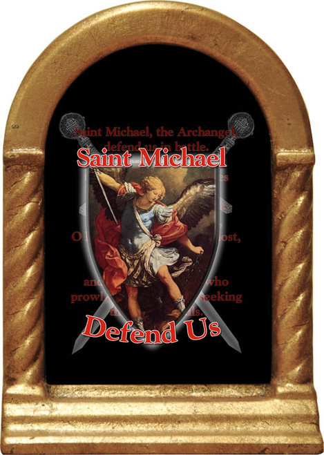 St. Michael Defend Us Desk Shrine
