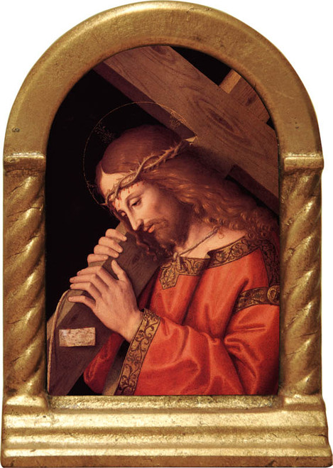 Christ Bearing the Cross Desk Shrine