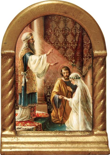 Wedding of Joseph and Mary Desk Shrine