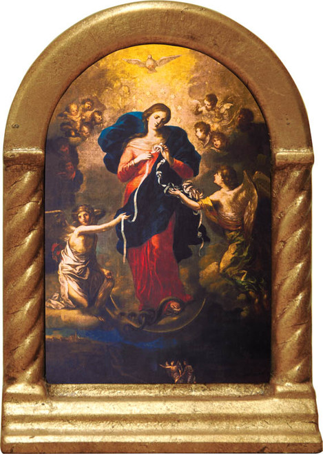 Mary, Undoer of Knots Desk Shrine
