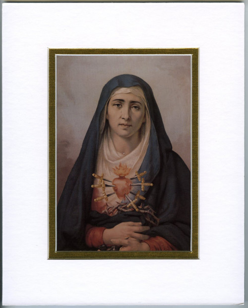 Our Lady of Sorrows: Fine Art Print with Matte