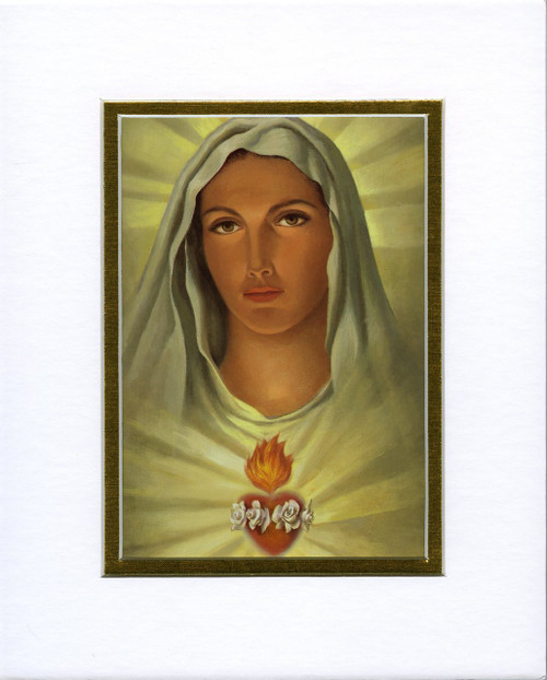 Immaculate Heart: Fine Art Print with Matte