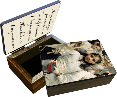 After the First Holy Communion (Detail 1 Girl) Keepsake Box