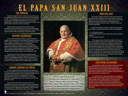 Spanish Pope Saint John XXIII Explained Poster
