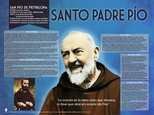 Spanish Saint Padre Pio Explained Poster