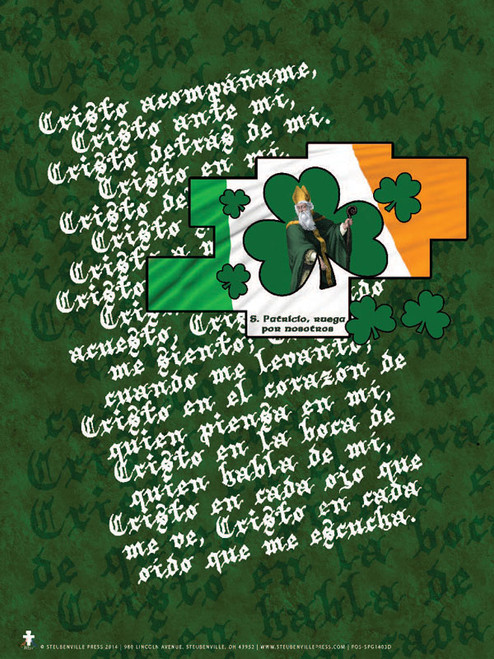 Spanish St. Patrick With Prayer Poster