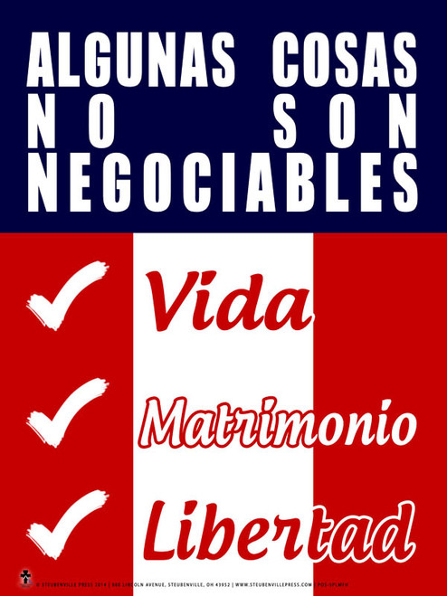 Spanish Some Things are Not Negotiable Poster