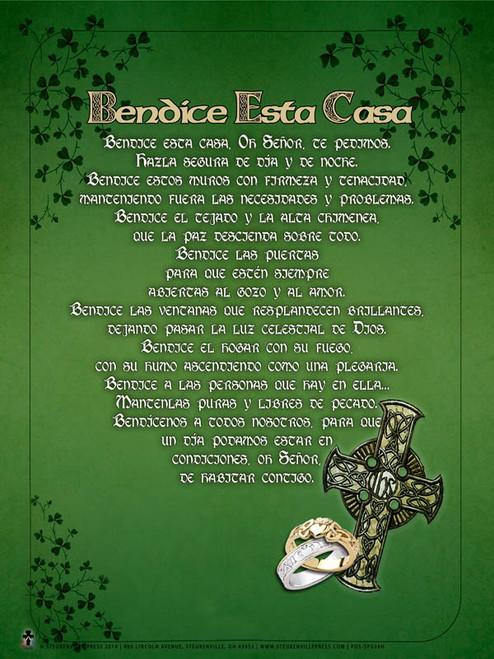 """Spanish Irish """"Bless This House"""" Poster"""