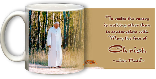 Pope John Paul II Walking Rosary Mug