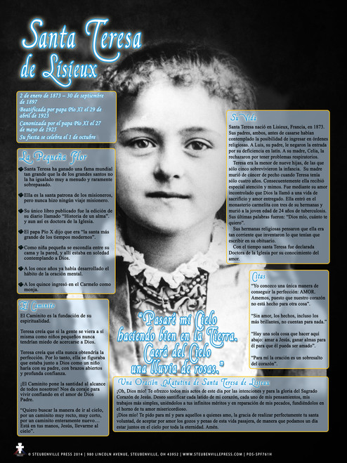 Spanish Saint Therese Explained Poster II