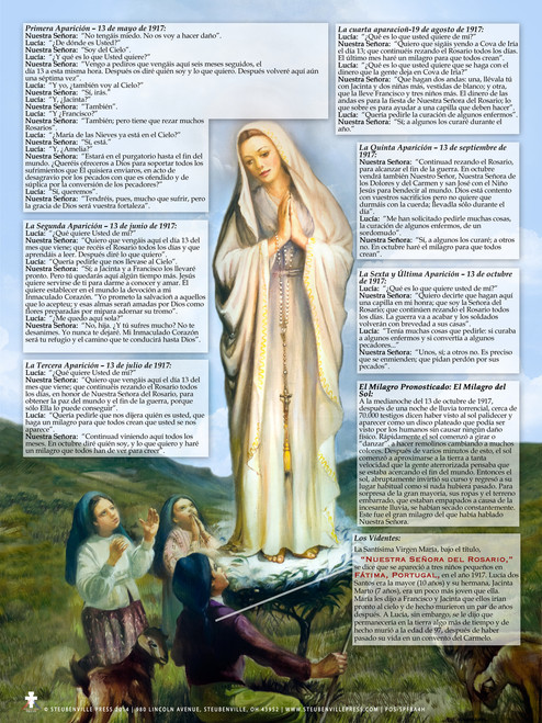 Spanish Our Lady of Fatima Explained Poster