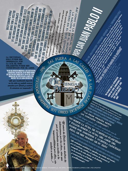 Spanish Be Not Afraid John Paul II Quote Poster