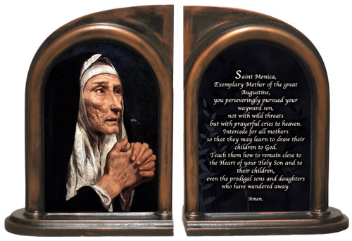 St. Monica Bookends