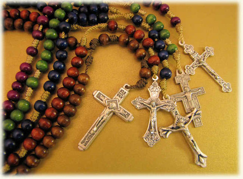 6MM Handmade Wood Cord Rosaries