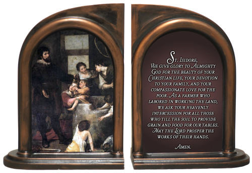 St. Isidore the Farmer Bookends