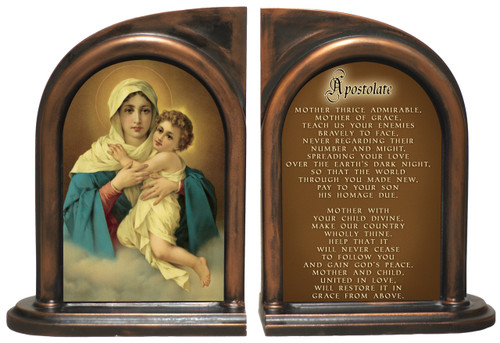 Schoenstatt Madonna Apostolate Prayer Bookends