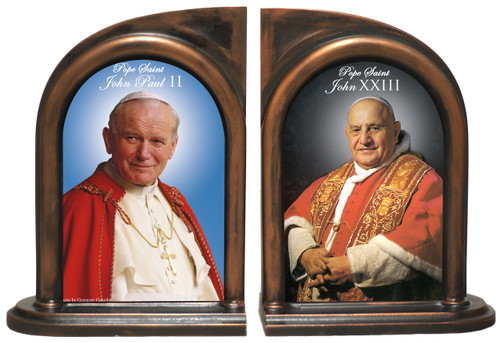 Pope John Paul II and John XXIII Sainthood Bookends