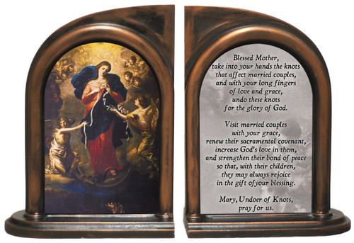 Mary, Undoer of Knots Marriage Prayer Bookends